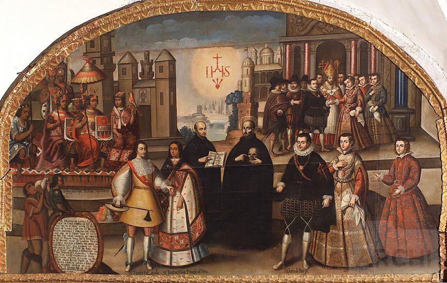 Wedding of Martín de Loyola with the Ñusta Beatriz and of Don Juan de Borja with Doña Lorenza Ñusta de Loyola, c. 1680