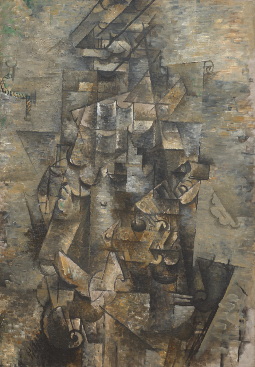 Georges Braque, Man with a Guitar, 1911, oil on canvas, 45 3/4 x 31 7/8 inches (MoMA)