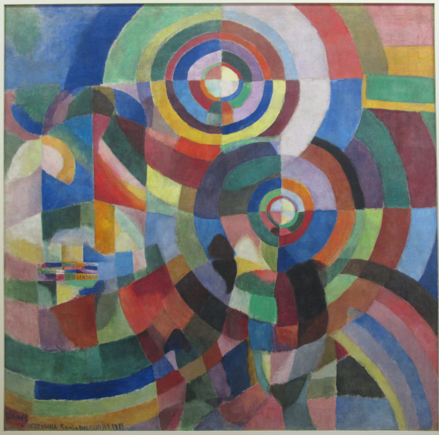 Sonia Delaunay, Electrical Prisms, 1914, oil on canvas, 250 x 250 cm (MNAM Centre Pompidou)