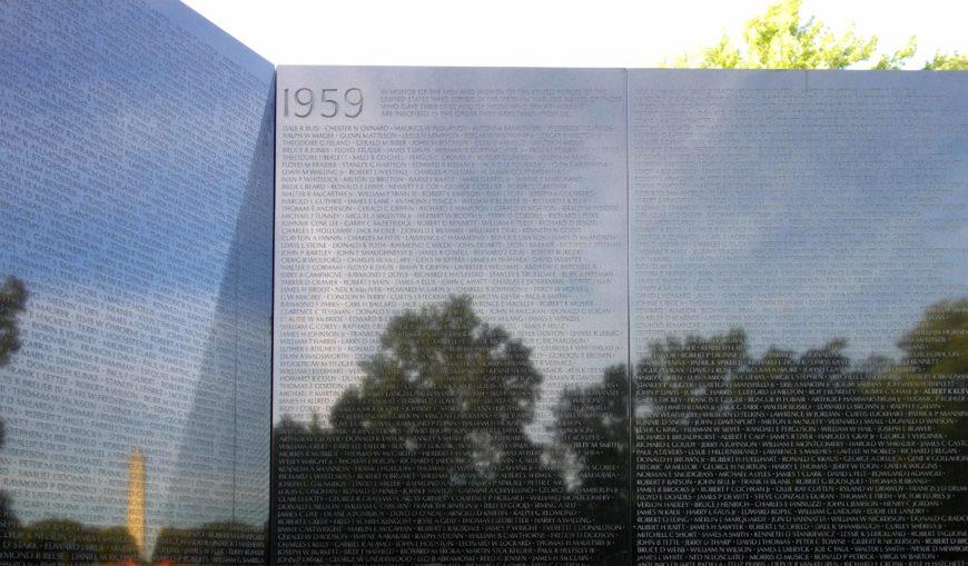 Maya Lin, Vietnam Veterans Memorial (detail), 1982, granite, National Mall, Washington, D.C. (photo: Steven Zucker, CC BY-NC-SA 4.0)