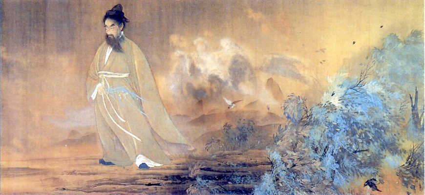 Yokoyama Taikan, Kutsugen (The Legendary Chinese Poet Qu Yuan), 1898, hanging scroll, colors on silk, 132.7 × 289.7 cm (Itsukushima shrine, Hiroshima, image: public domain)