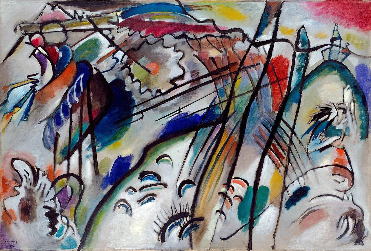 Vasily Kandinsky, Improvisation 28 (second version), 1912, oil on canvas 111.4 x 162.1 cm (Solomon R. Guggenheim Museum, New York)