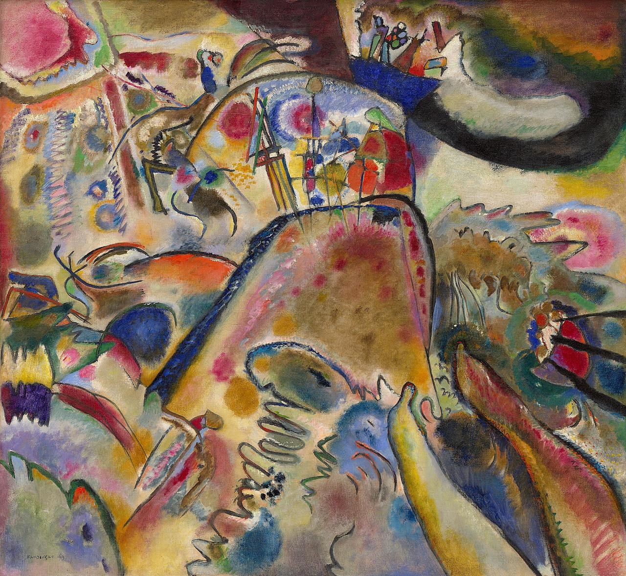 Vasily Kandinsky, Small Pleasures, 1913, oil on canvas, 110.2 x 119.4 cm (Solomon R. Guggenheim Museum, New York)