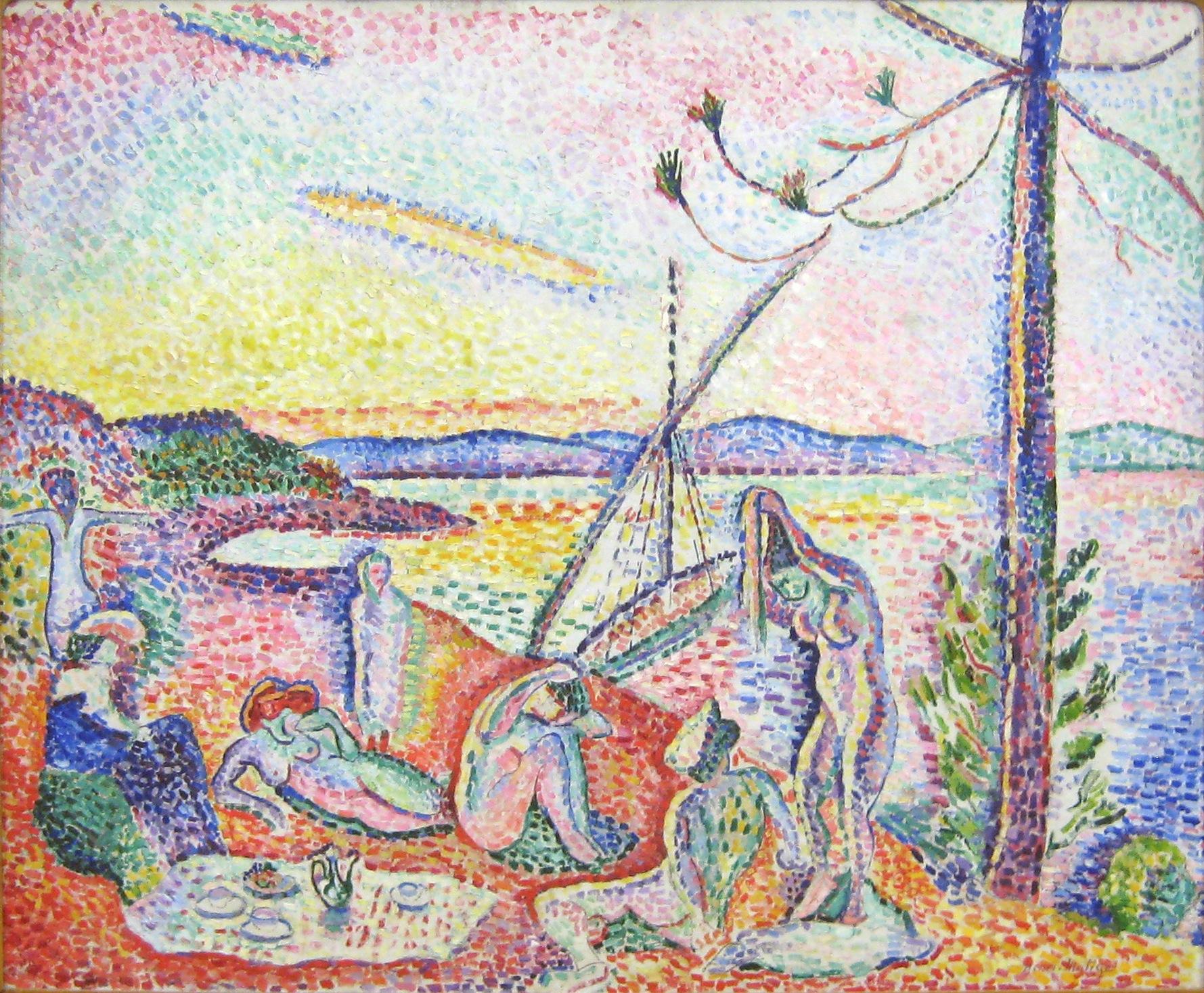 Henri Matisse, Luxe, Calme et Volupté, 1904-5, oil on canvas, 37 x 46 inches (Musée d'Orsay, Paris)