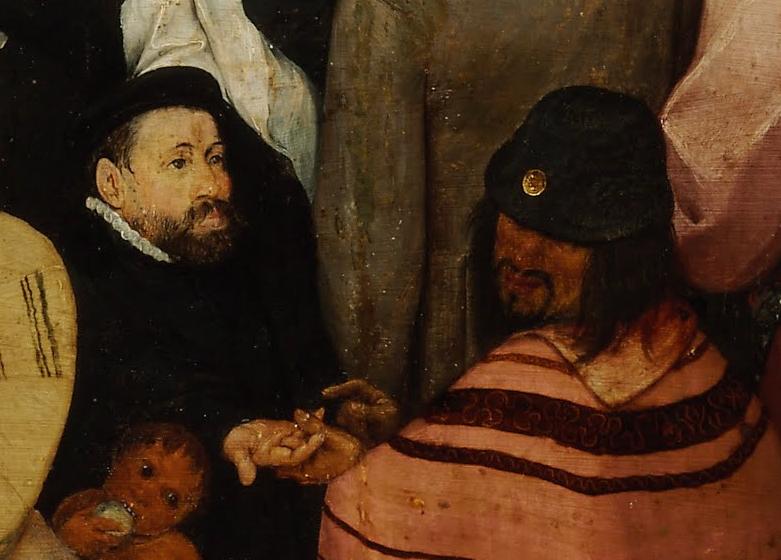 Pieter Bruegel the Elder, The Sermon of Saint John the Baptist, 1566, detail (Museum of Fine Arts Budapest)