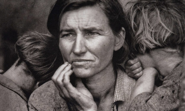 Thumbnail Dorothea Lange, Migrant Mother, Nipomo California, 1936, printed later, gelatin silver print, 35.24 x 27.78 cm (Los Angeles County Museum of Art, PG.1997.2)
