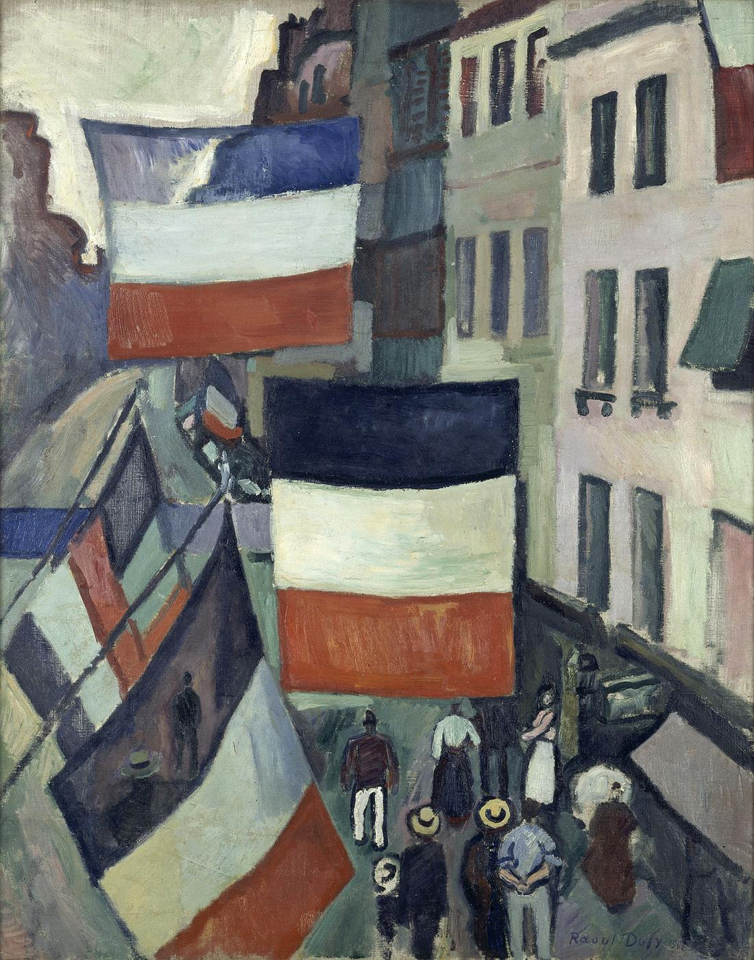 Raoul Dufy, The Street Decked with Flags, 1906, oil on canvas, 81 x 65 cm (MNAM, Centre Pompidou, Paris)