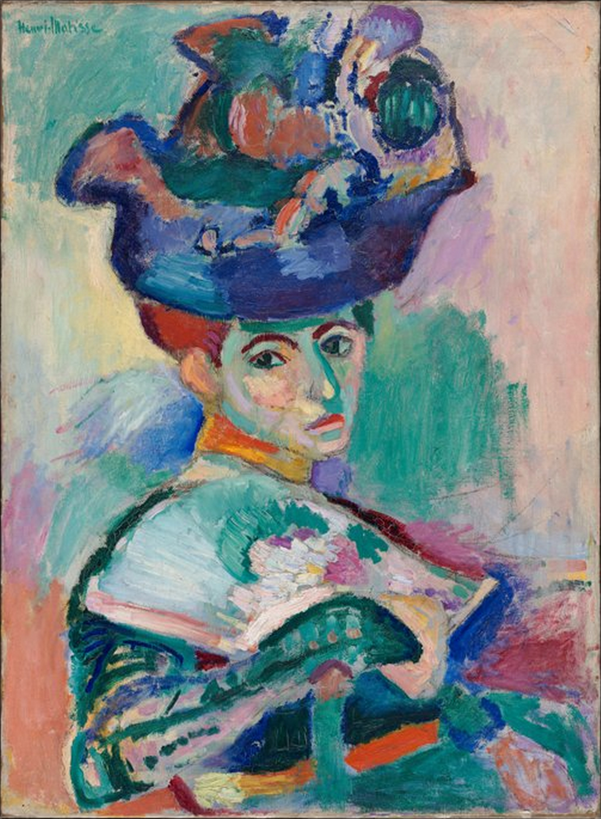 Henri Matisse, Woman with a Hat, 1905, oil on canvas, 80.6 x 59.7 cm (San Francisco Museum of Modern Art)