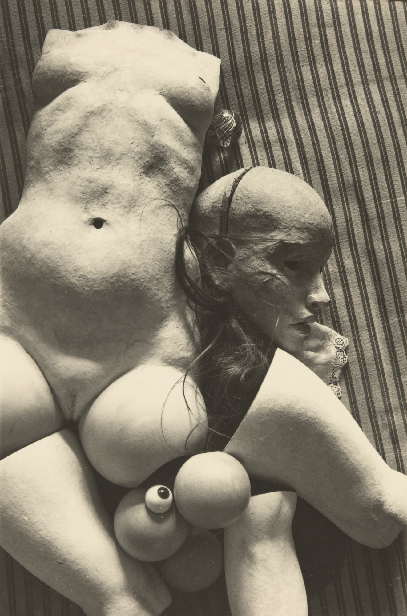 Hans Bellmer, Untitled from The Doll, 1936, gelatin silver print, 4 5/8 x 3 1/16 inches (MoMA)