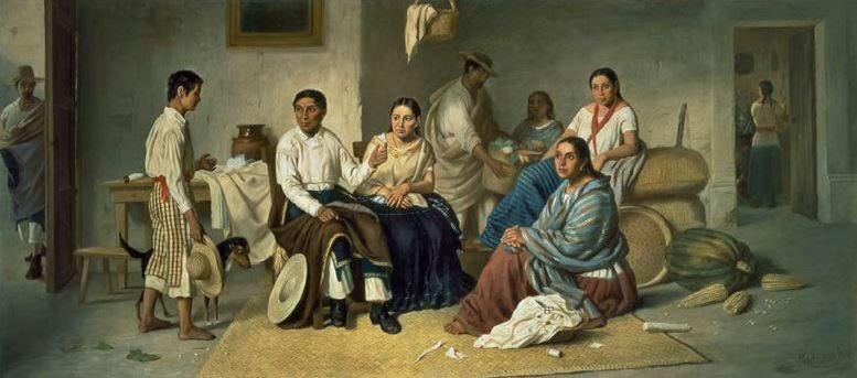 Felipe Santiago Gutiérrez, La despedida del joven indio (The Young Indian's Farewell), 1876, oil on canvas, 82 x 92 cm (Private Collection, Mexico City)