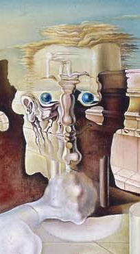 Salvador Dalí, The Invisible Man, detail, 1929, oil on canvas, 140 x 81 cm (Museo Nacional Centro de Arte Reina Sofia, Madrid)