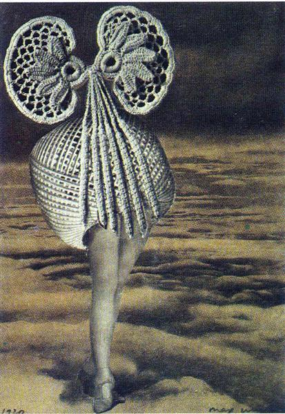 Max Ernst, Above the Clouds Walks Midnight, 1920, collage