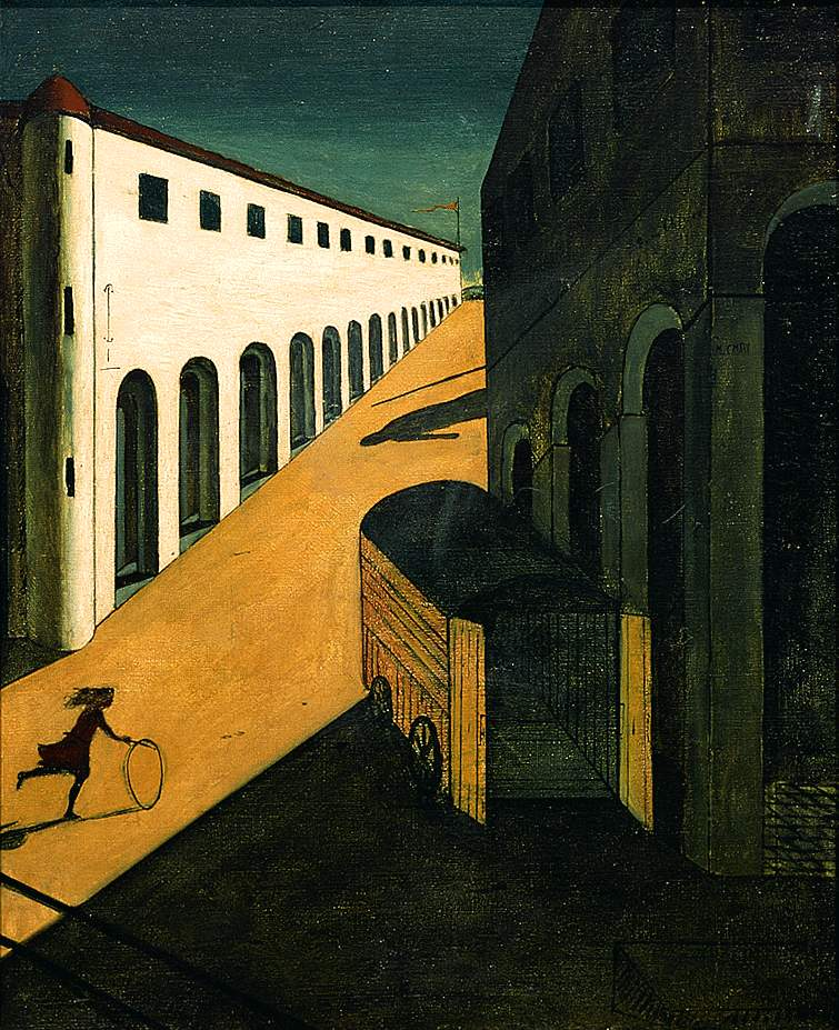 Giorgio de Chirico, The Mystery and Melancholy of a Street, 1914, oil on canvas