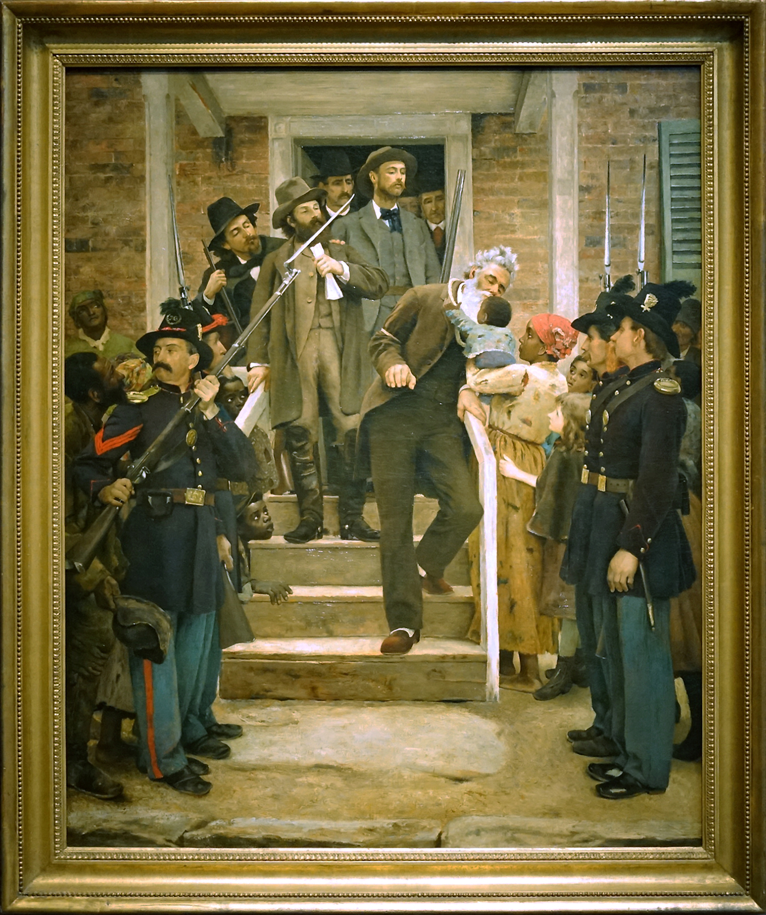 Thomas Hovenden, The Last Moments of John Brown, c. 1884, oil on canvas, 117.2 x 96.8 cm (de Young Museum, Fine Arts Museums of San Francisco, photo: Steven Zucker, CC BY-NC-SA 2.0)