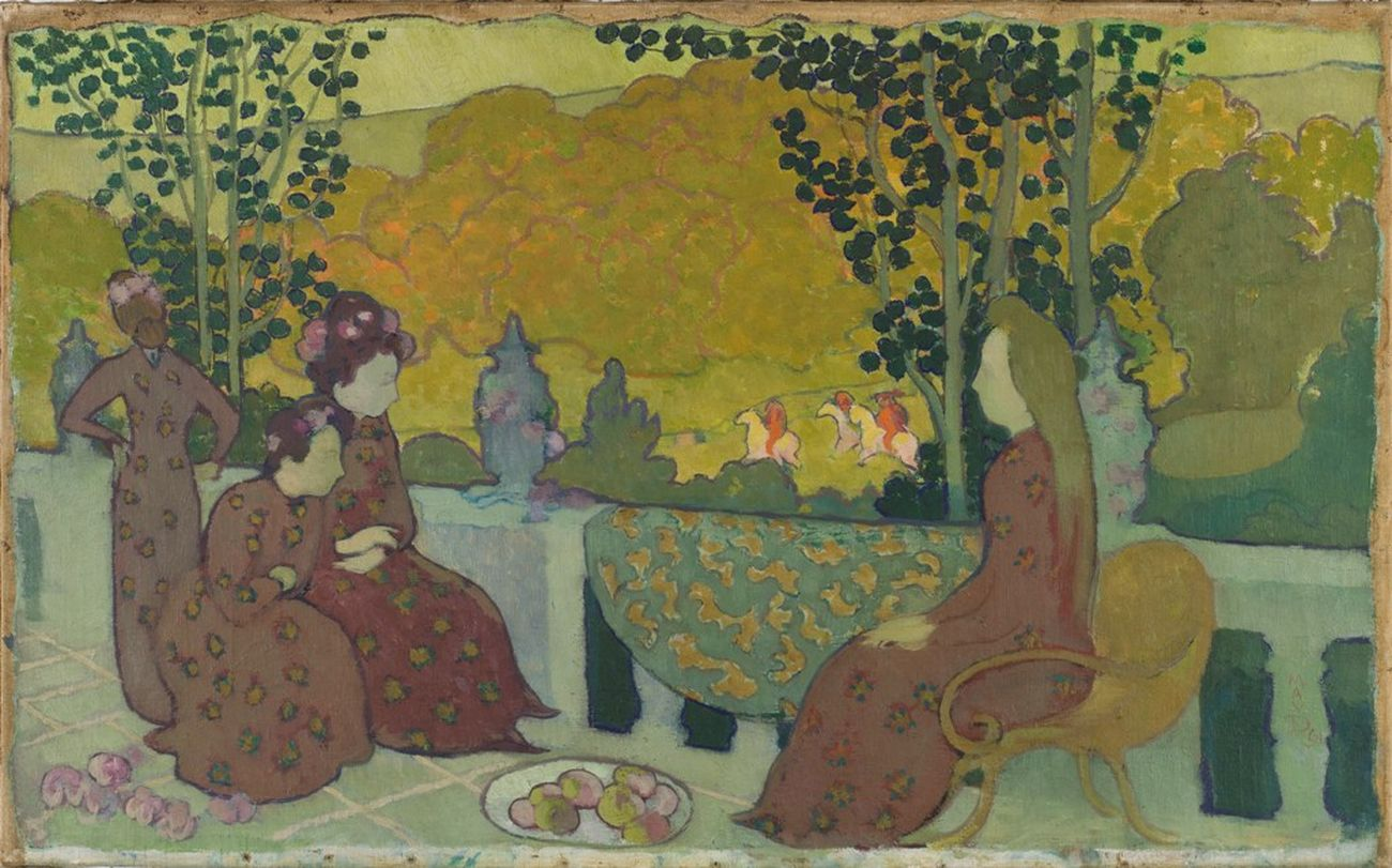Maurice Denis, September Evening, 1891, oil on canvas, 38 x 62 cm (Musée d'Orsay)