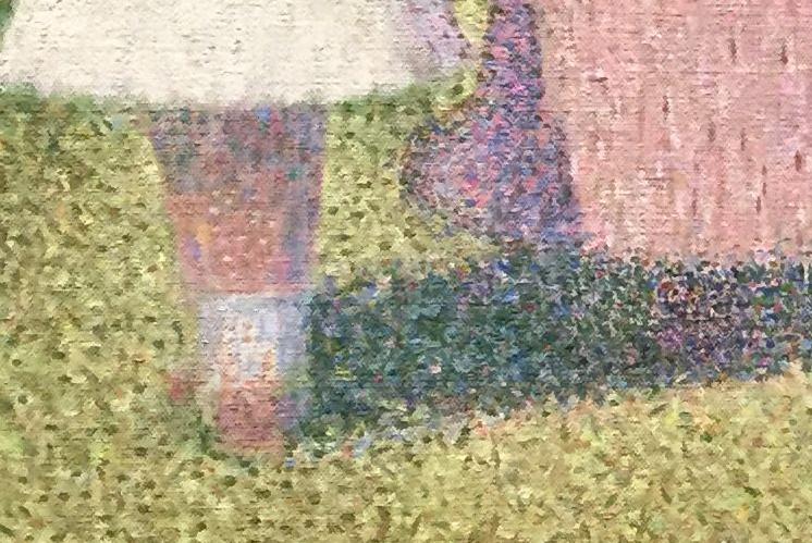 Georges Seurat, A Sunday on La Grande Jatte, detail, 1884-86, oil on canvas, 207.5 x 308.1 cm (Art Institute of Chicago)