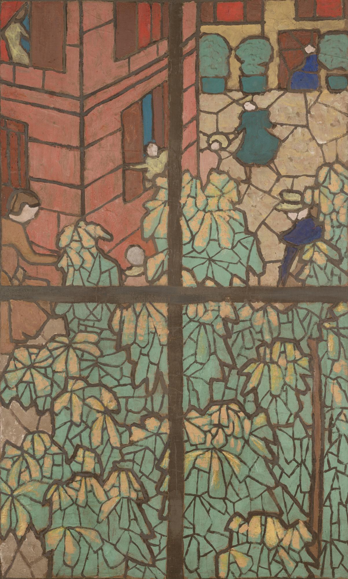 Édouard Vuillard, The Chestnut Trees, 1895, distemper on cardboard, 110 x 70 cm (Dallas Museum of Art) Design for Tiffany window