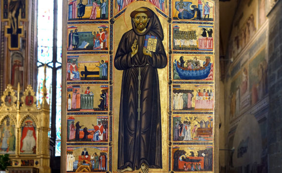St. Francis and scenes from his life, 1240s-1260s, panel (Bardi Chapel, Basilica of Santa Croce, Florence)