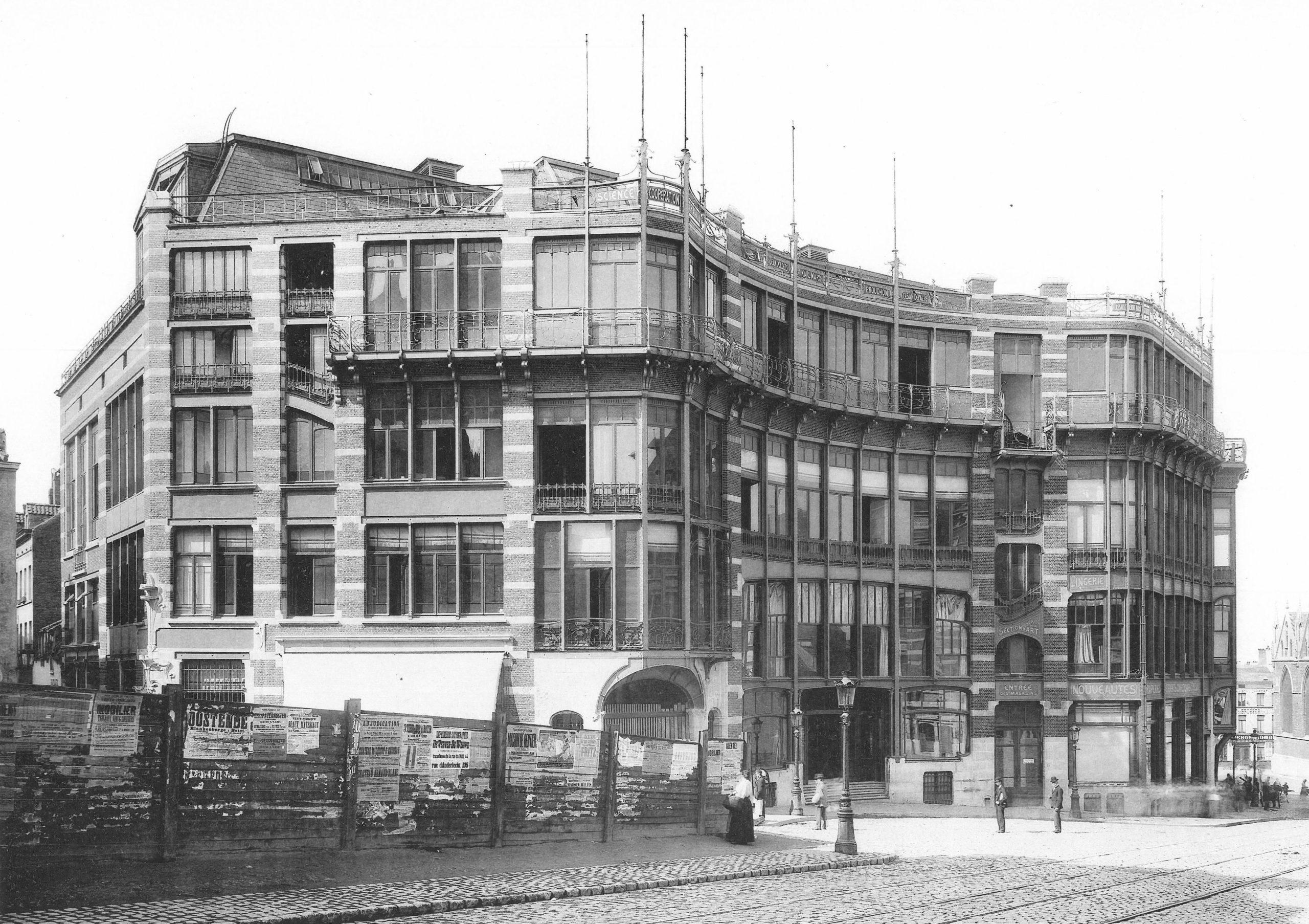 Victor Horta, Maison du Peuple, Brussels, 1899 (demolished)