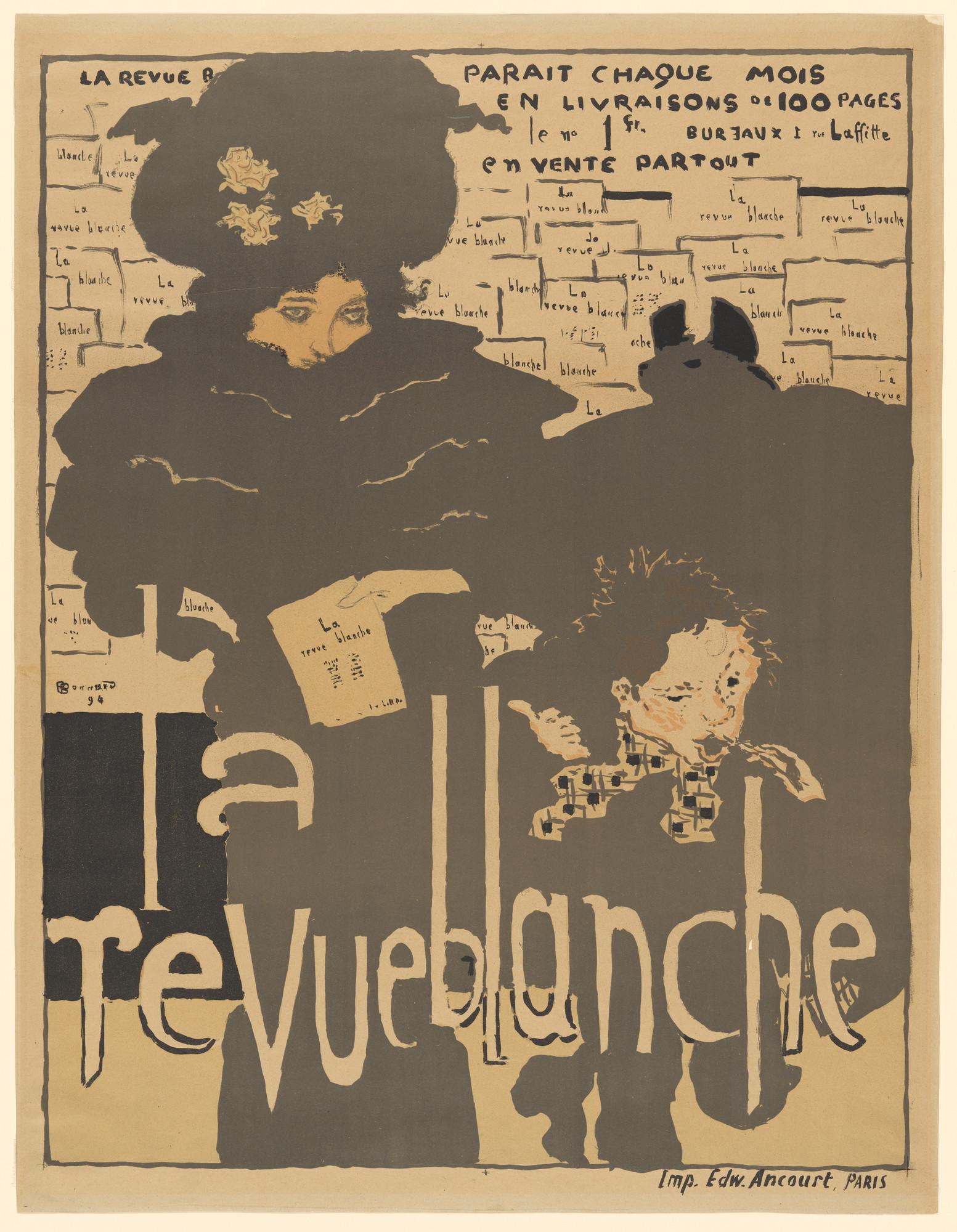 Pierre Bonnard, La Revue Blanche, 1894, lithograph, 80.7 x 61.9 cm (MoMA)