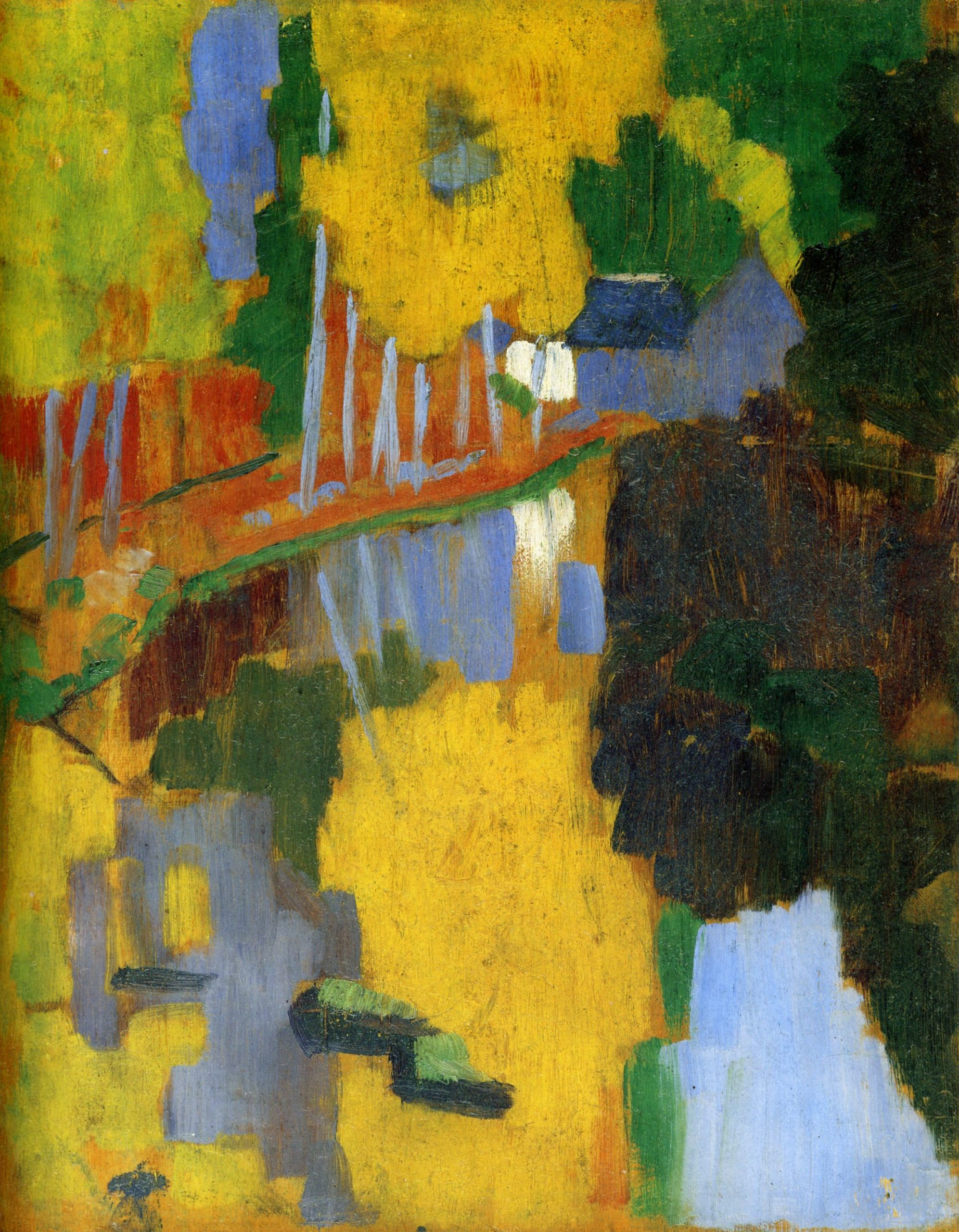 Paul Sérusier, The Talisman, 1888, oil on panel, 27 x 21 cm (Musée d'Orsay)