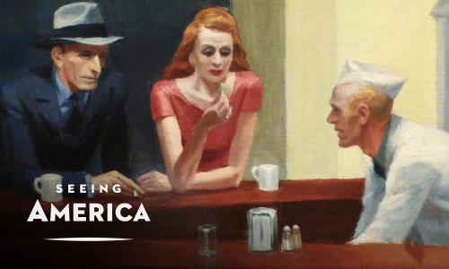 1942<br>Wartime alienation in Edward Hopper's Nighthawks