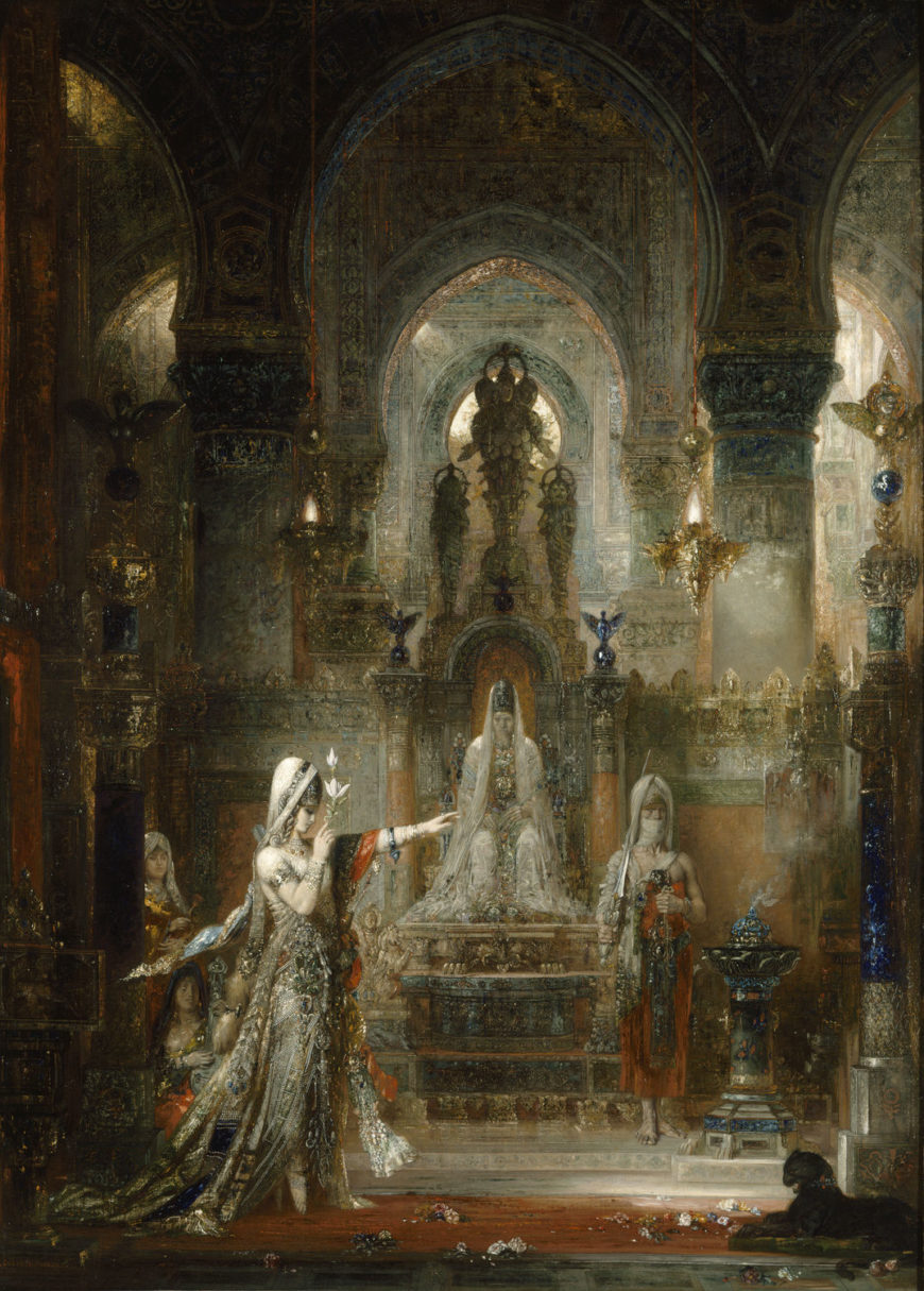 Gustave Moreau, Salome dancing before Herod, 1876, oil on canvas, 56.5 in × 41.1 in. Image: Hammer Museum, UCLA, Los Angeles