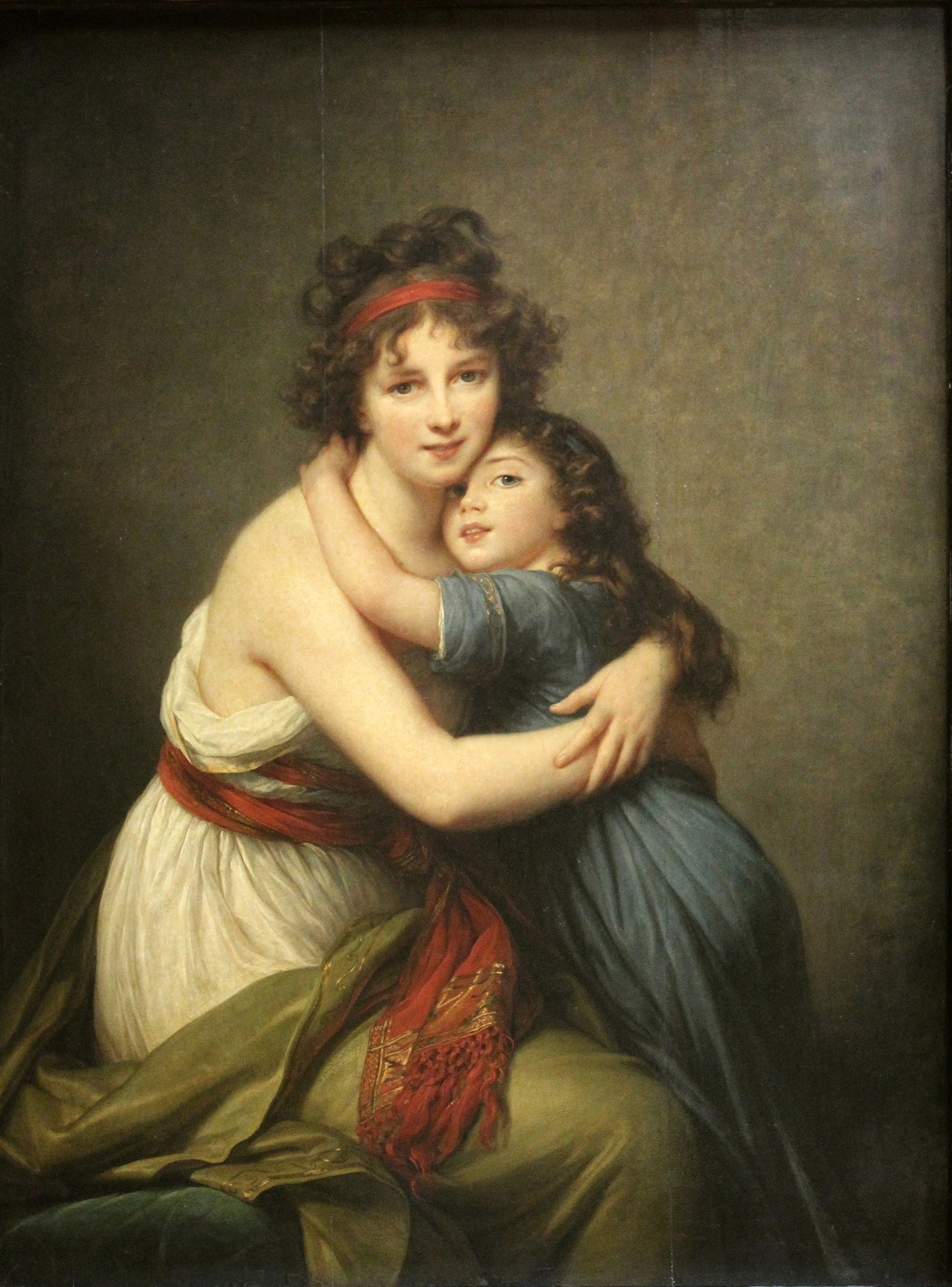 Elisabeth Vigée Le Brun, Self-Portrait with Her Daughter Julie (á l'Antique), 1789, oil on wood, 130 x 94 cm (Musée du Louvre, Paris)