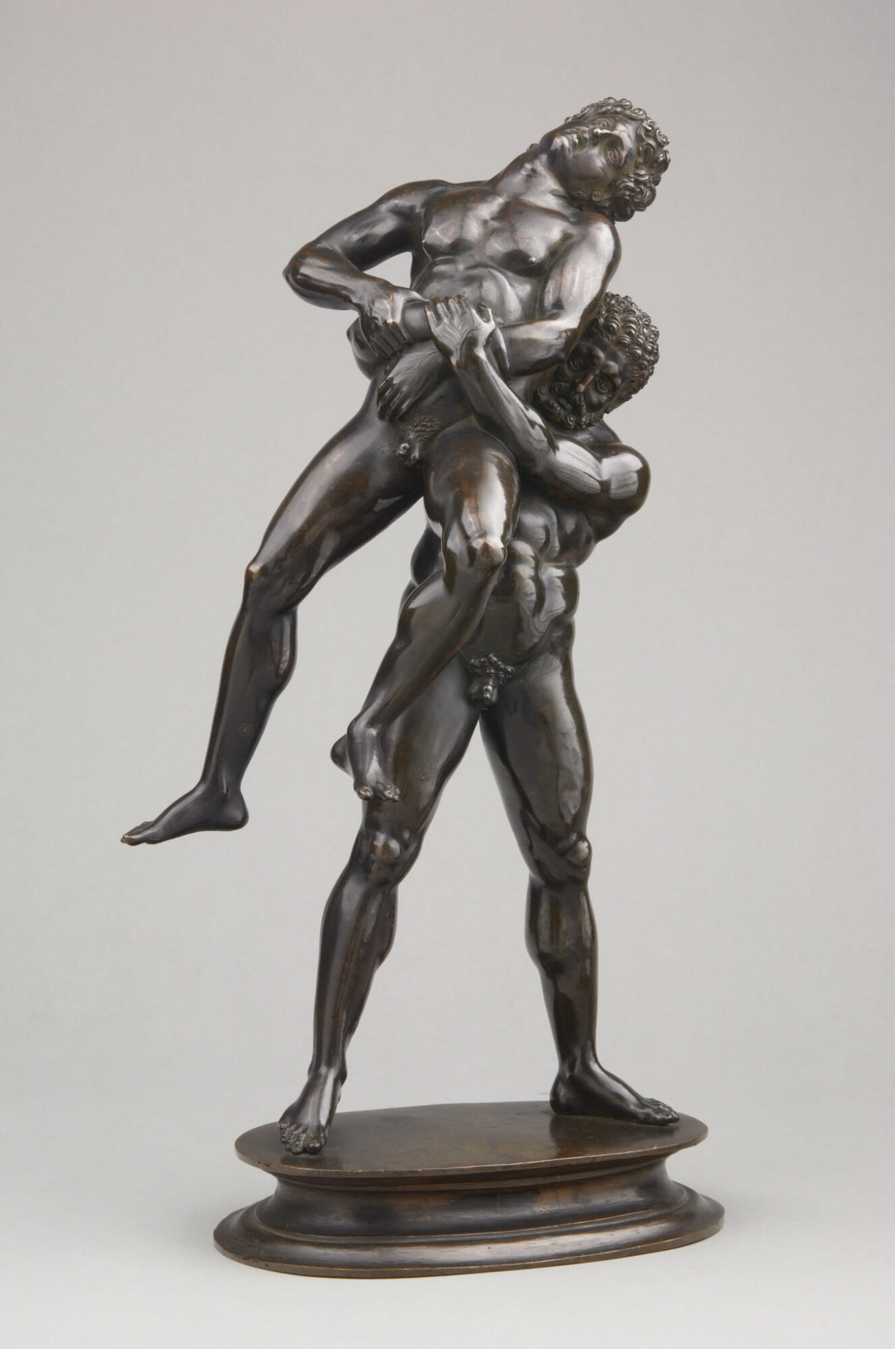 Antico, Hercules and Antaeus, c. 1519, bronze, 17 inches high (KHM-Museumsverband, Kunstkammer. KHM-Museumsverband / Kunsthistorisches Museum, Vienna)