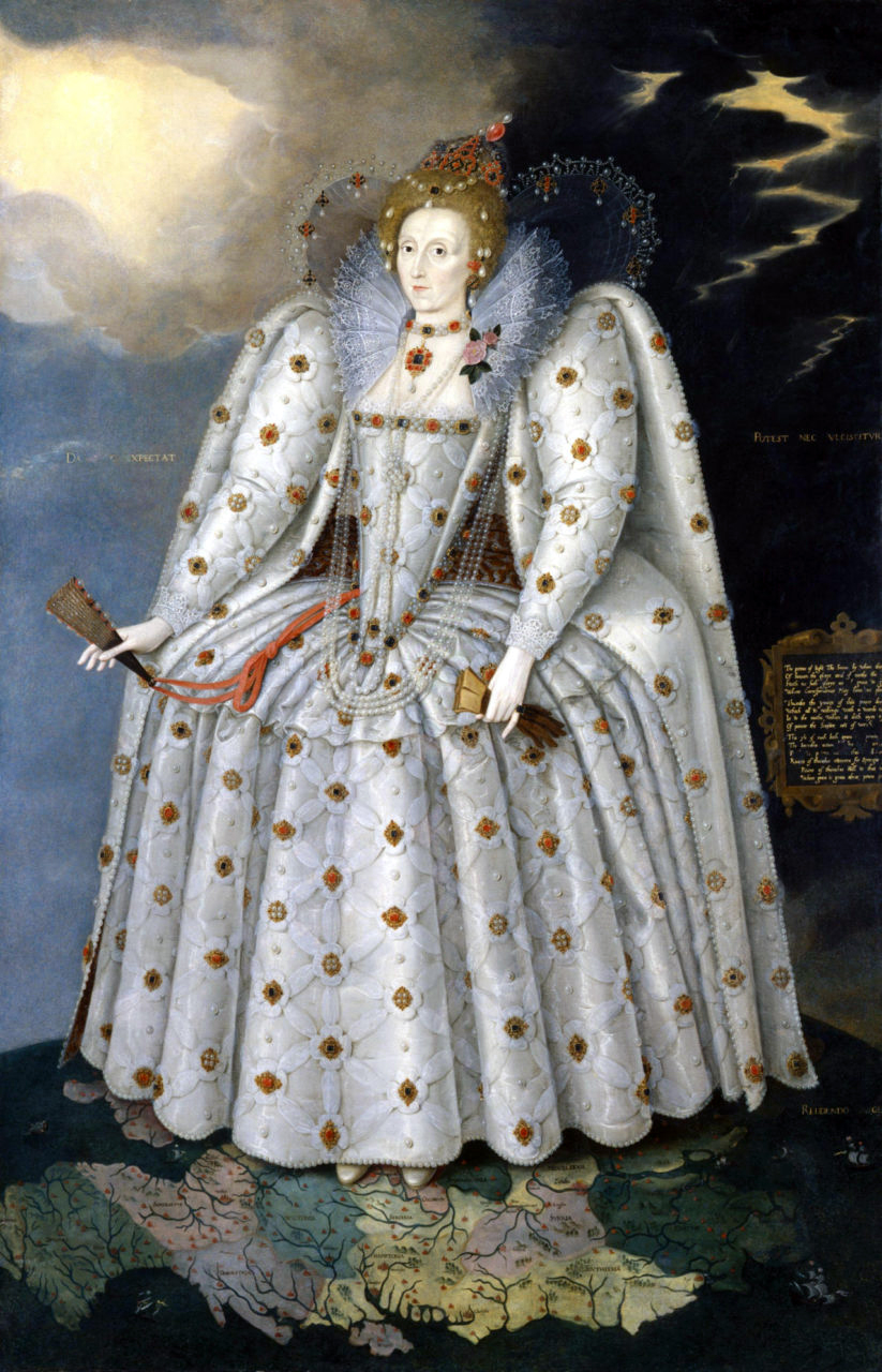 Marcus Gheeraerts the Younger, The Ditchley Portrait, c.1592, oil on canvas, 241.3 x 152.4cm (National Portrait Gallery, London)