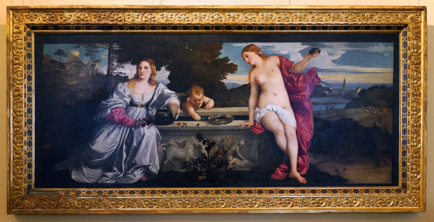 Titian, Sacred and Profane Love, 1514, oil on canvas, 118 x 279 cm (Galleria Borghese)