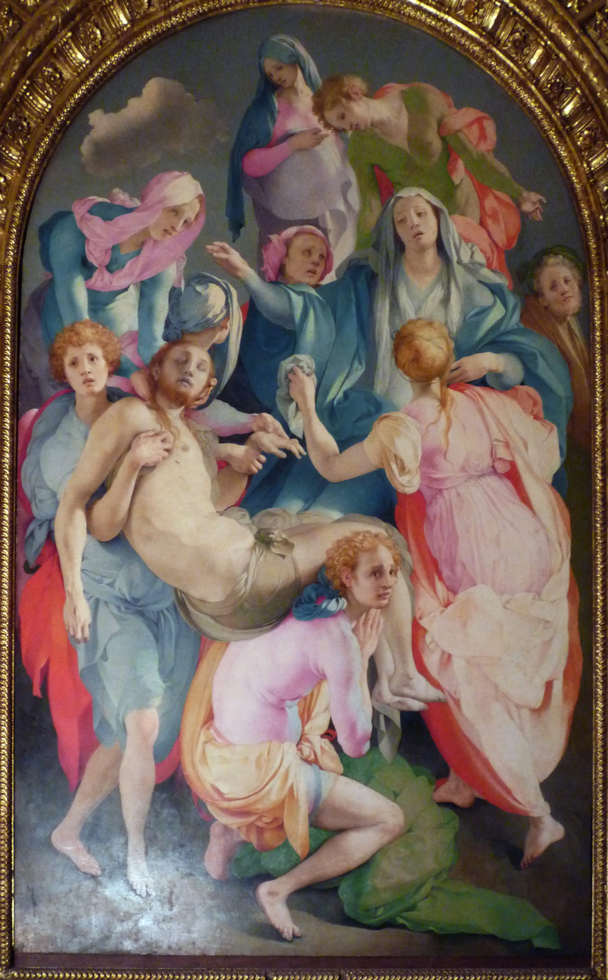 Pontormo, Entombment (or Deposition from the Cross), oil on panel, 1525-28, Capponi Chapel, Santa Felicita, Florence