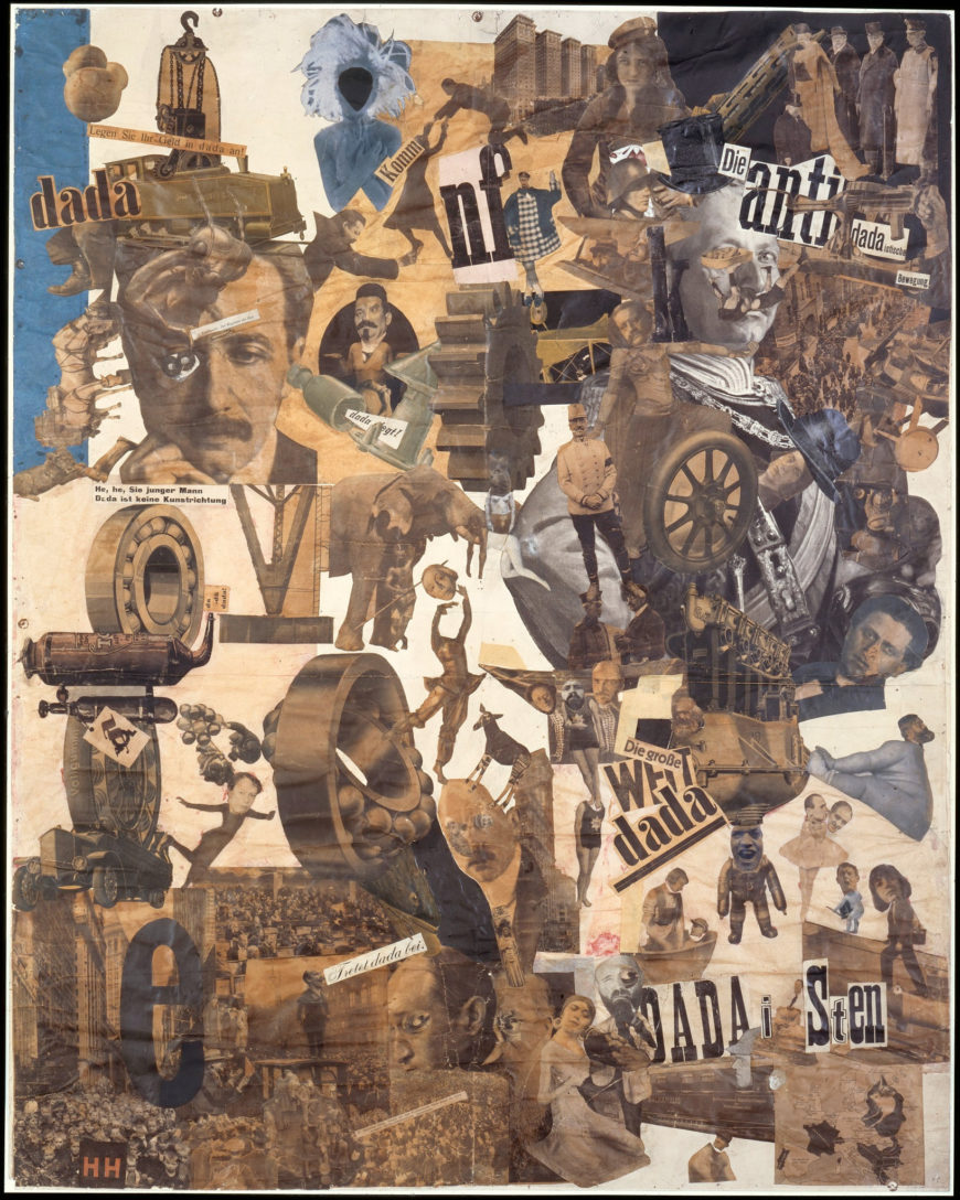 Hannah Höch, Cut with the Kitchen Knife Dada Through the Last Weimar Beer-Belly Cultural Epoch of Germany, collage, mixed media, 1919-1920