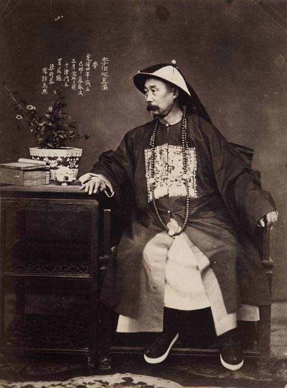 Liang Shitai, Portrait of Li Hongzhang in Tianjin, c. 1875, albumen print, 29 x 22 cm