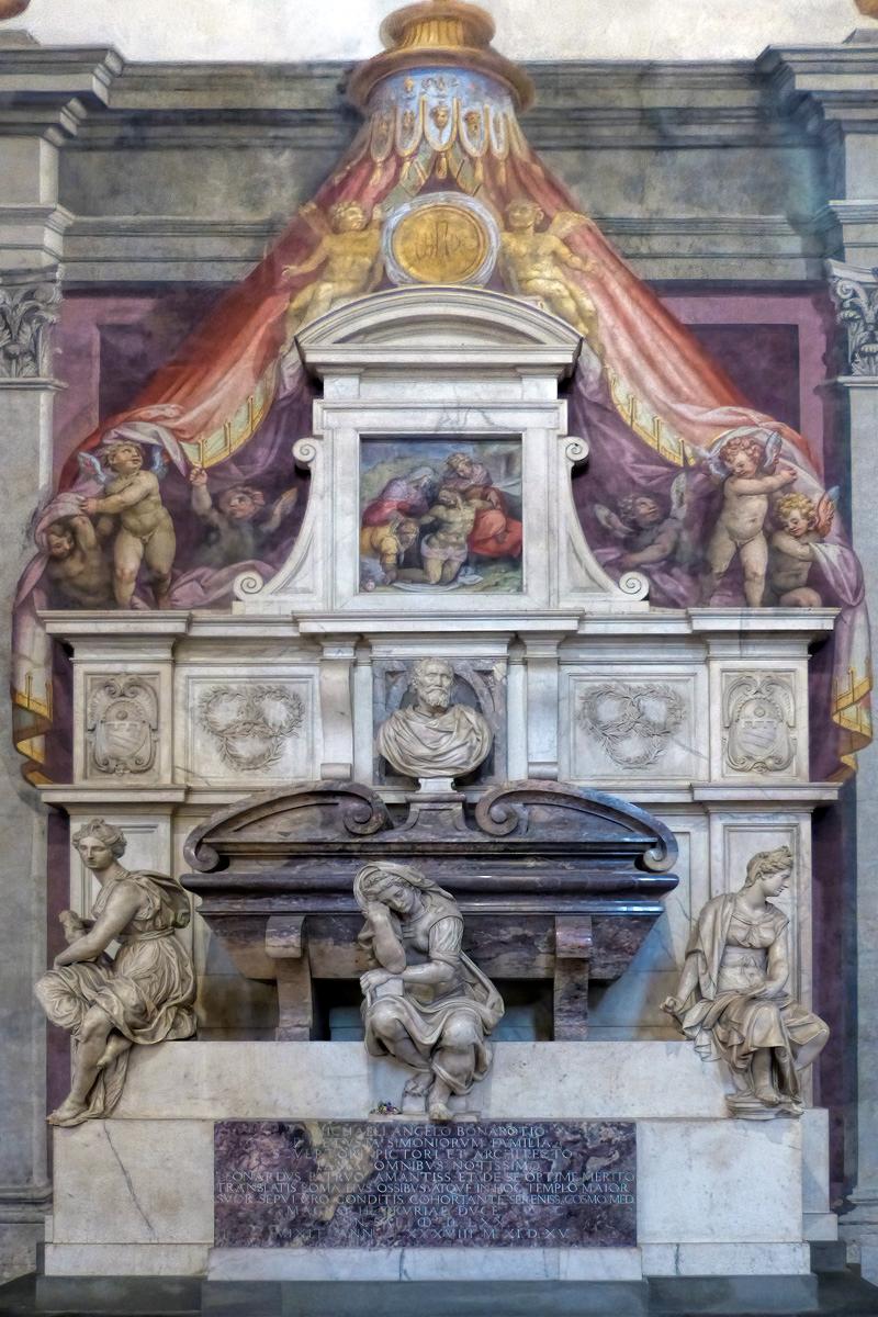 Michelangelo's tomb, Basilica of Santa Croce, Florence (photo: Walwyn, CC BY-NC 2.0)