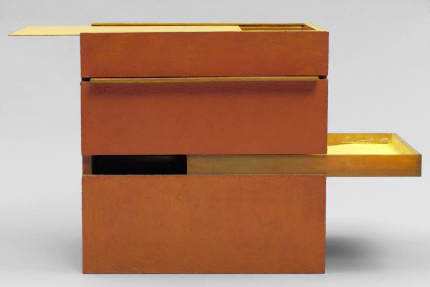 Hélio Oiticica, B11 Bólide Box 09, 1964, Wood, glass and pigment, 498 × 500 × 340 mm (Tate)