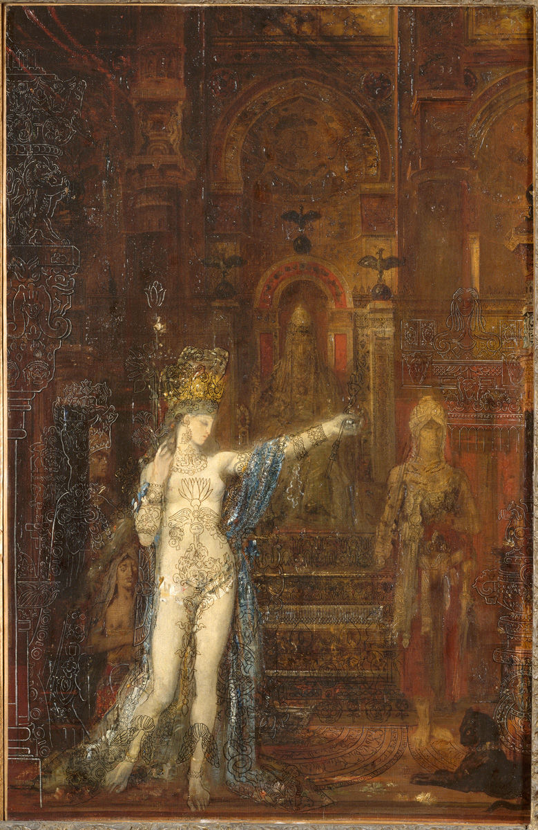 Gustave Moreau, Salome Dancing, known as Salome Tattooed, 1874 oil on canvas, 92 x 60 cm (Musée Gustave Moreau, Paris)