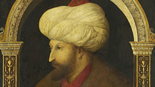 thumb- Gentile Bellini, Portrait of Sultan Mehmet II, 1480, oil on canvas, 69.9 x 52.1 cm, The National Gallery London. Layard Bequest, 1916. Currently on loan to the Victoria and Albert Museum, London.