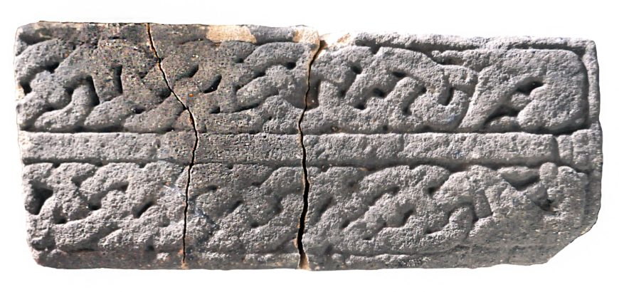 Grave slab, 10th century, from the cemetery beneath York Minster (Image courtesy of York Museums Trust :: https://yorkmuseumstrust.org.uk :: CC BY-SA 4.0)