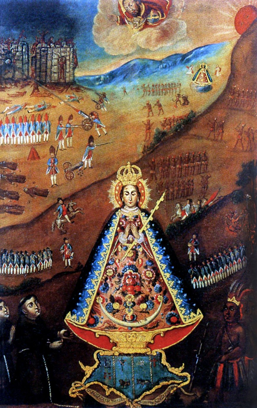 Unknown artist, The Virgin of the Macana, second half of the 18th century, oil on canvas (private collection)