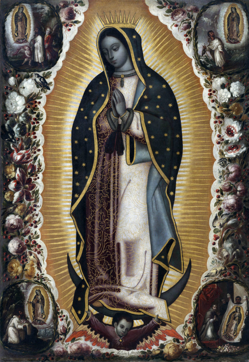 Manuel de Arellano, Virgin of Guadalupe, 1691, oil on canvas, 181.45 x 123.38 cm (Los Angeles County Museum of Art)