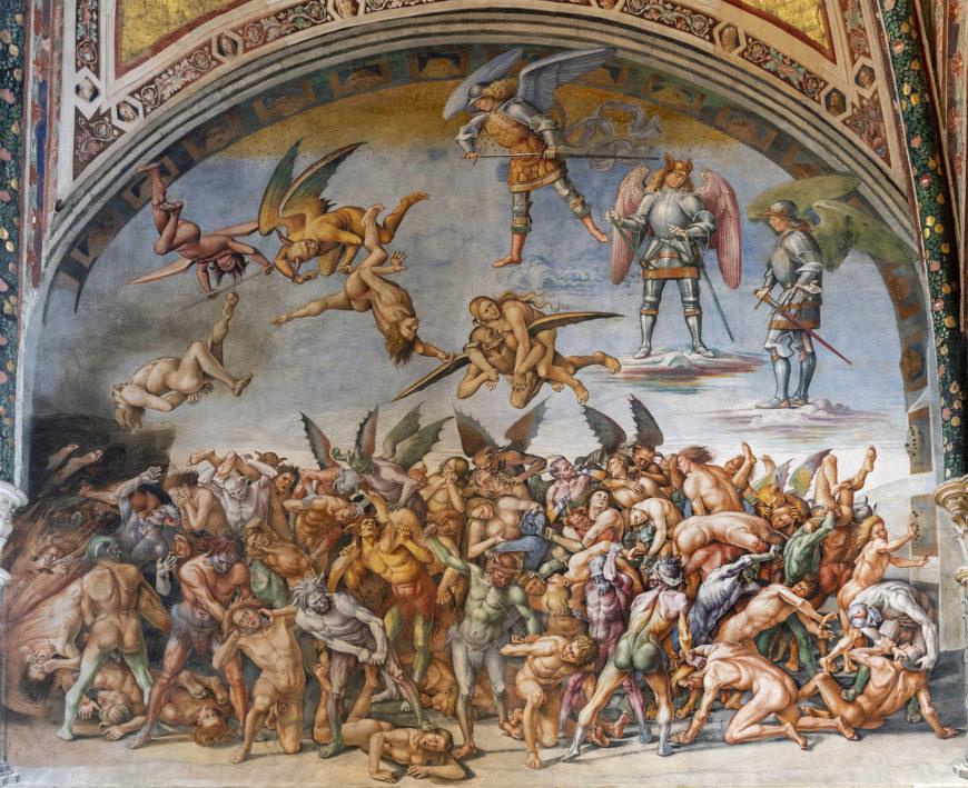 Luca Signorelli, The Damned Cast into Hell, 1499-1504, fresco, 23' wide (San Brizio chapel, Orvieto Cathedral, Orvieto, Italy) (photo: Steven Zucker, CC BY-NC-SA 2.0)