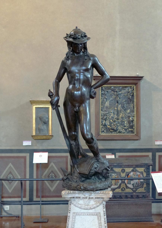 Donatello, David, c. 1440, bronze, 158 cm (Museo Nazionale de Bargello, Florence)