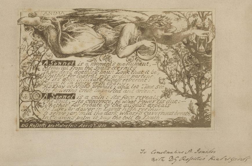 Dante Gabriel Rossetti, A Sonnet, April 27, 1880
