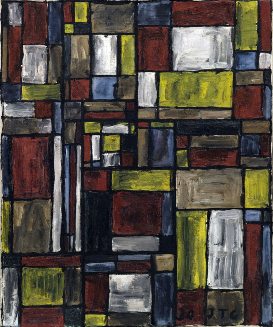 Joaquín Torres-García, Color Structure, 1930. Oil on canvas, 24 x 20 in. Collection of the Museum of Modern Art, New York.