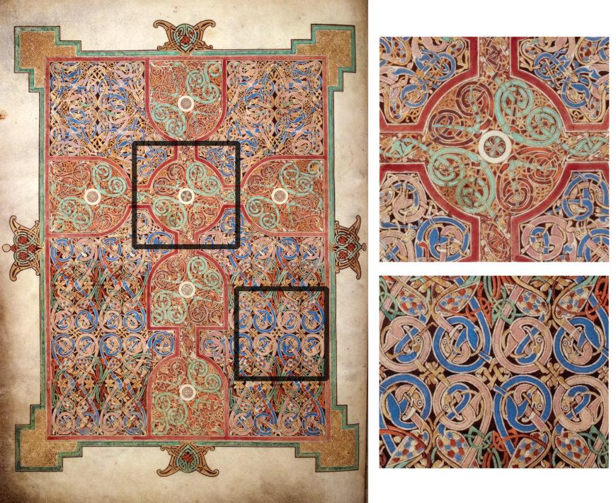 Lindisfarne Gospels, St Matthew, Cross-Carpet page, f.26v (British Library)