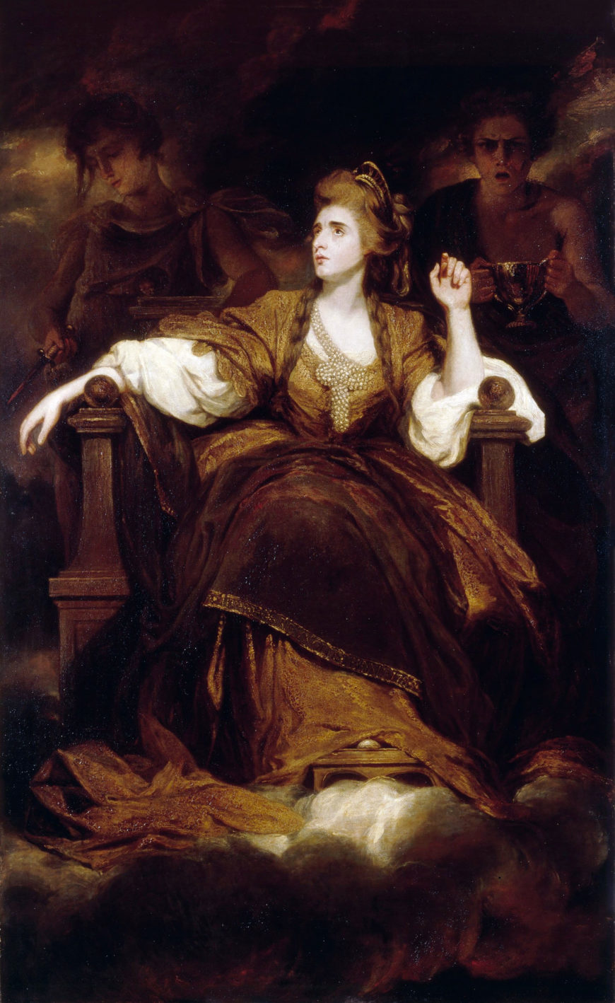 Sir Joshua Reynolds, Mrs Siddons as the Tragic Muse, 1783–1784, oil on canvas, 239. 4 x 147.6 cm (The Huntington Library, Art Museum, and Botanical Gardens)