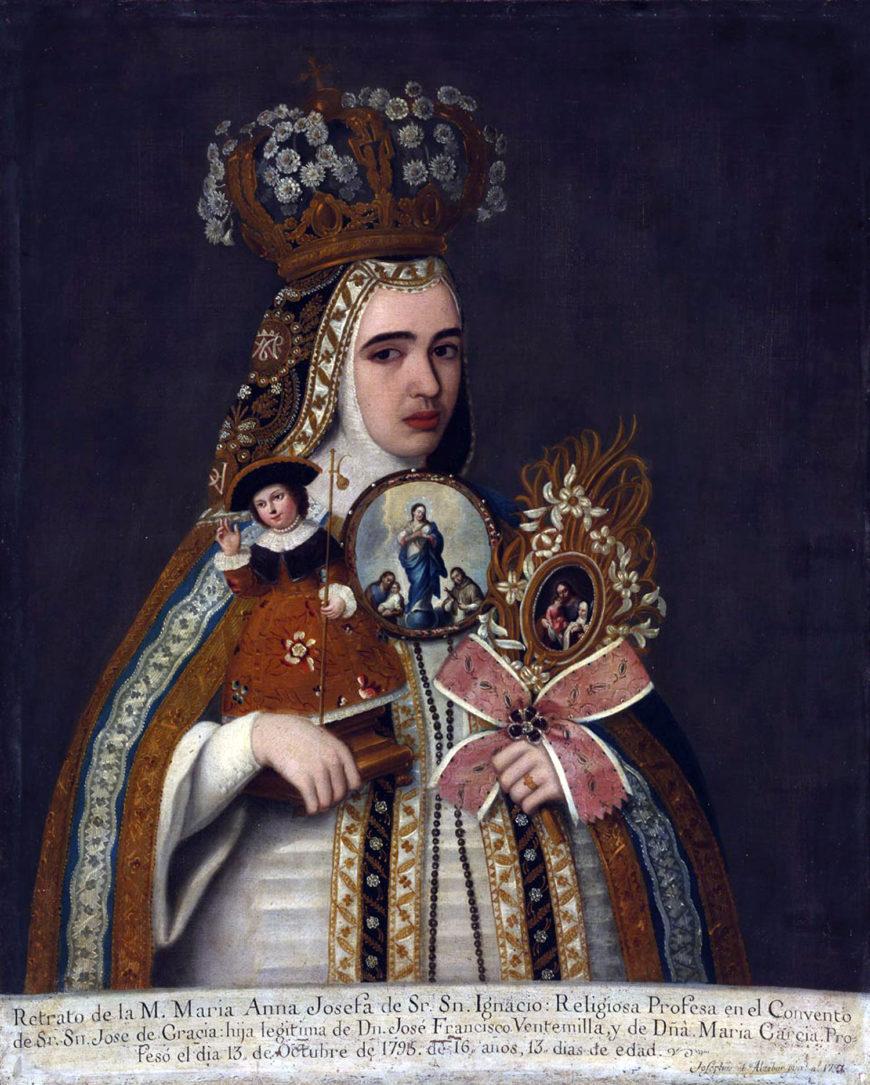 José de Alcíbar, Madre María Ana Josefa de Señor San Ignacio, 1795, oil canvas, 104 x 84 cm (Szépmüvészeti Múzeum/Museum of Fine Arts, Budapest)