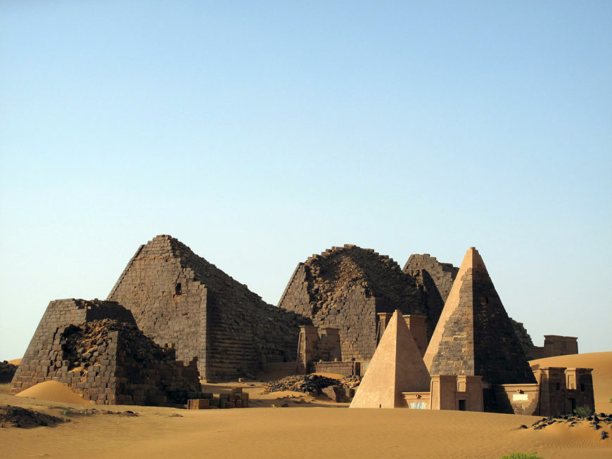Pyramids of Meroe - Northern Cemetery - Archaeological Sites of the Island of Meroe (Sudan) (photo: UNESCO)