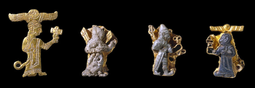 Gold figures of deities, Hittite, 13th century B.C.E., from Carchemish, south-east Anatolia (modern Turkey), largest figure 1.750 cm high (© The Trustees of the British Museum)